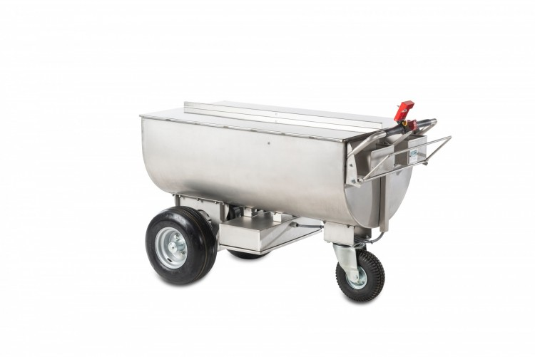 Stainless steel feed wagon